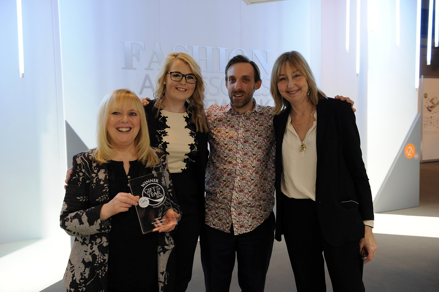 18 Myself with artist Katherine Williams, being presented with Gift of the Year 2016 award by Cath Kidston (right)