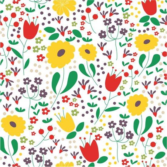 51.Mireille Marchand - Spring Flowers Field