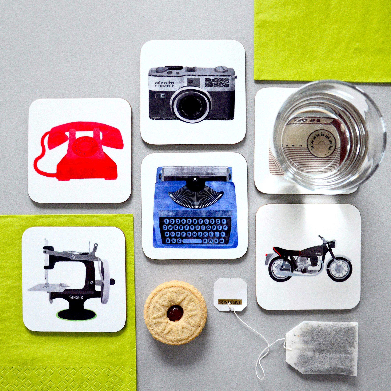 Fiona Clabon Retro Coasters