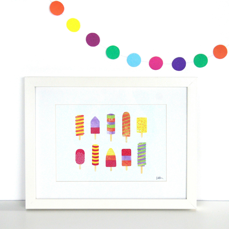 Fiona Clabon - Summer Lollies Print