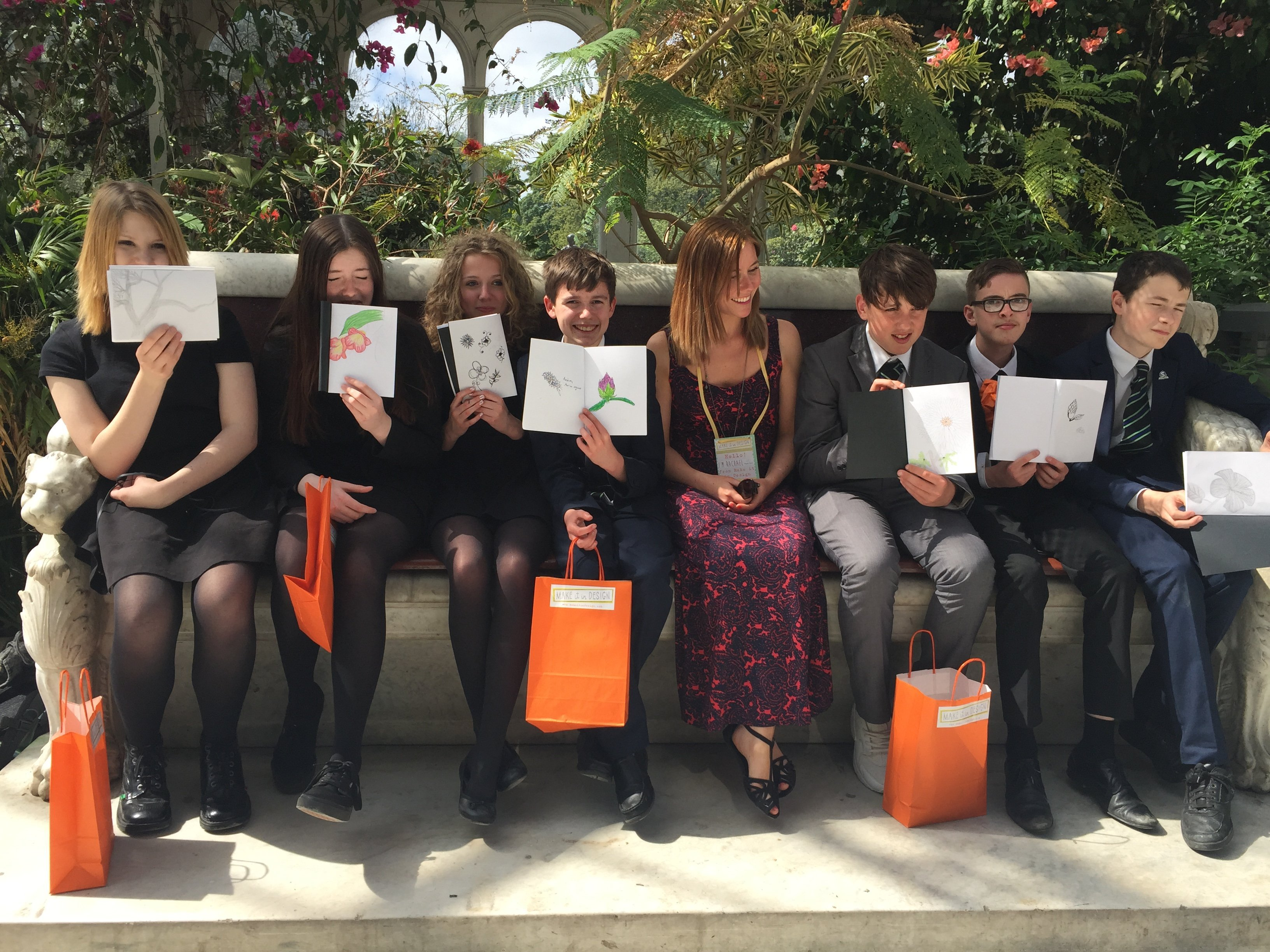 Rachael and students from Sandymoor School