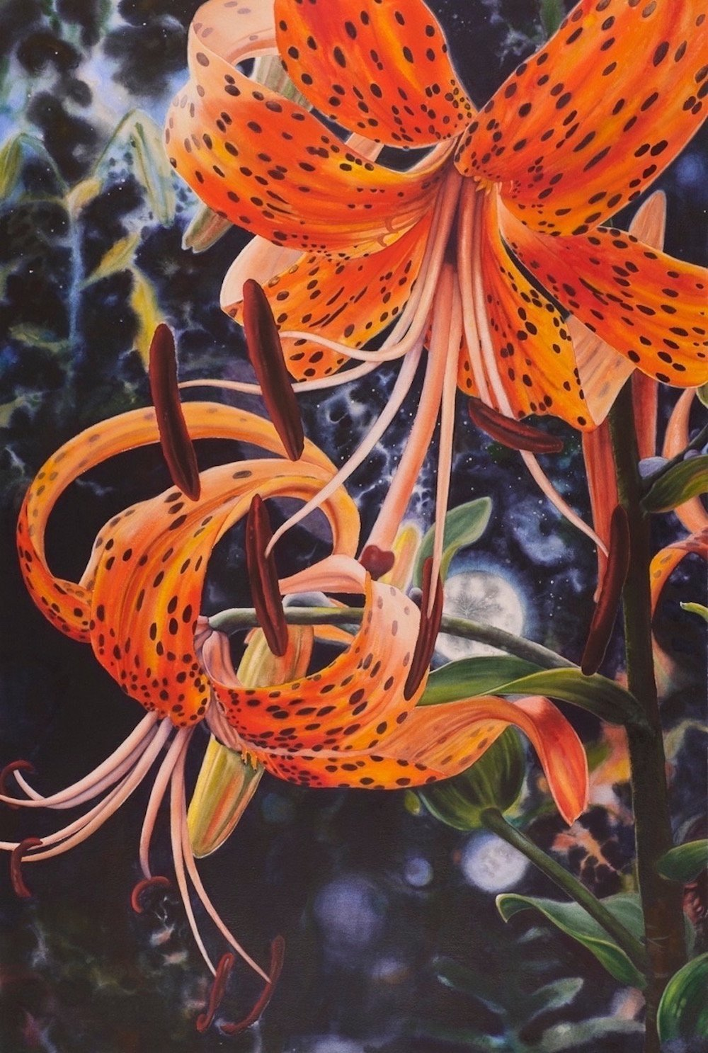 LauraBethmann_Moons_in_Mind.Tiger_Lilies_Watercolor_42x26