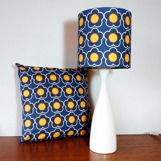 Retro Flower lampshade and cushion