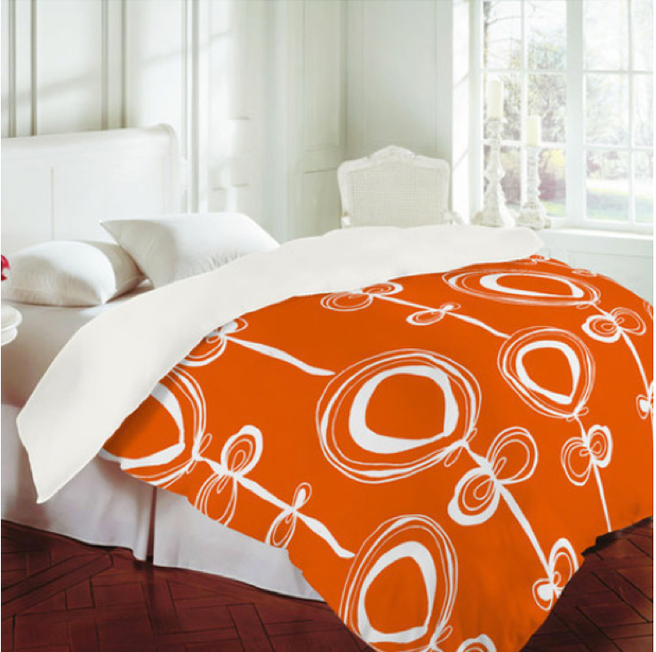 Rachael Taylor's 'contemporary orange' licensed by DENY Designs