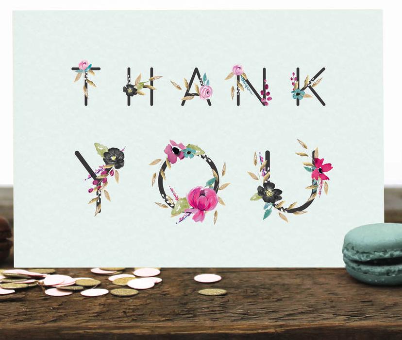 Thank you card Stephanie Davies
