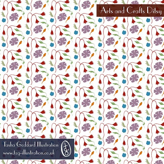 Tasha Goddard - Arts and Crafts Ditsy - SFW