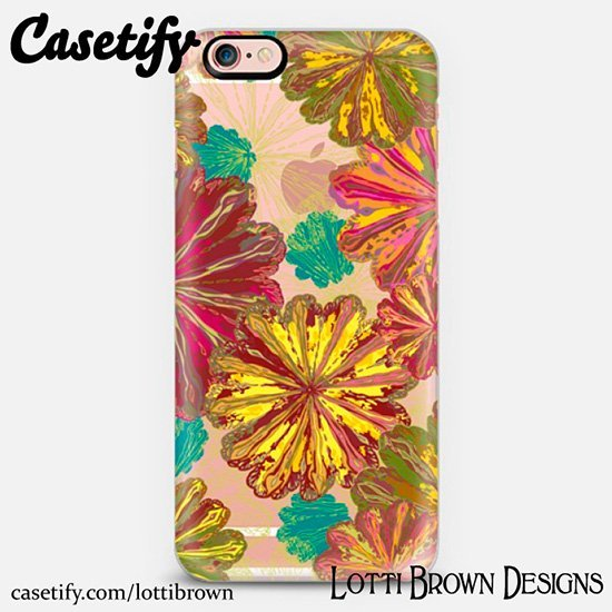lotti_brown_casetify_colorful_poppytops_phonecase